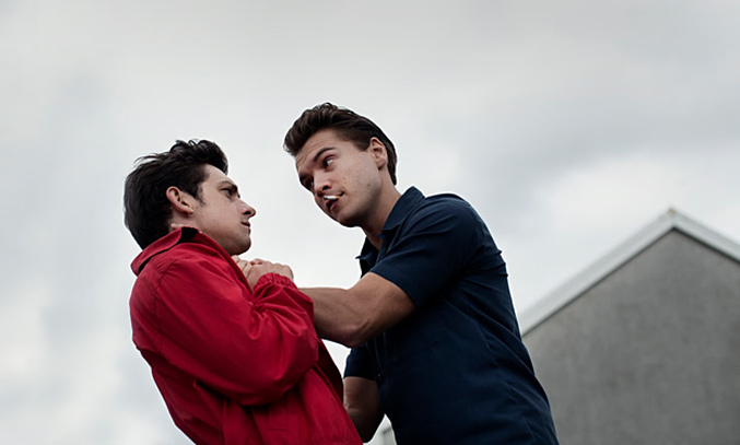 Deadpan and darkly comic: Craig Roberts (left) and Emile Hirsch in Just Jim. Photograph: Soda Pictures