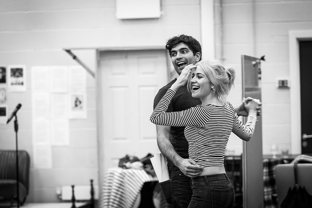 Charlie De Melo and Pixie Lott in rehearsals for Breakfast at Tiffany's