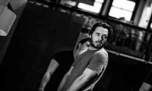 Garmon Rhys in rehearsals for Doctor Faustus. Image Credit: Matt Humphrey