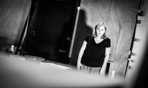 Jenna Russell in rehearsals for Doctor Faustus. Image Credit: Matt Humphrey
