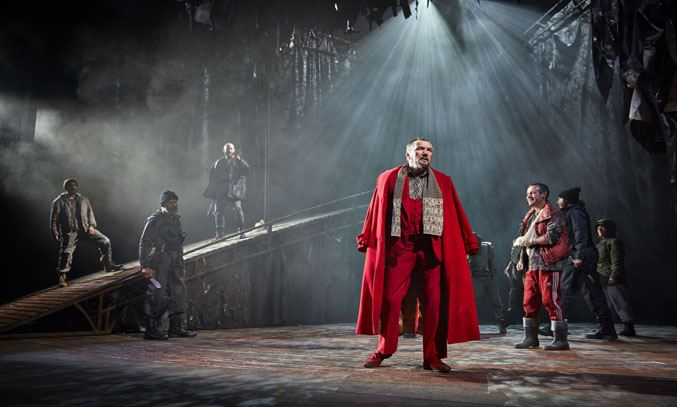 Tom Mannion as Duncan and Joseph Brown as Malcolm in MACBETH UK and Ireland Tour. Photo: BrinkhoffMogenburg
