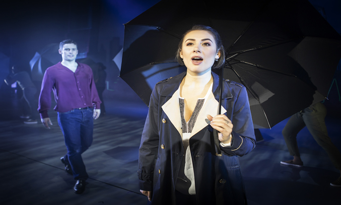 Niall Sheehy as Sam and Rebekah Lowings as Molly in GHOST THE MUSICAL.