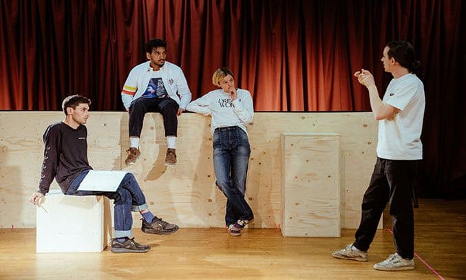 Nabhaan Rizwan (Ariel), Emma Corrin (Anna), Daniel Raggett (Director).