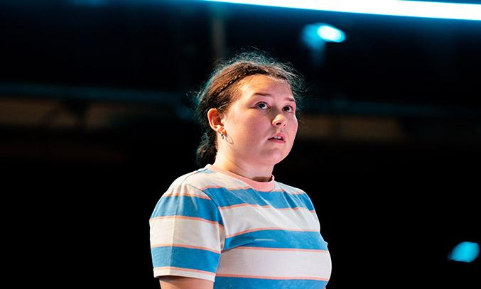 Liv Hill as Lola in GLEE & ME at Royal Exchange Theatre.