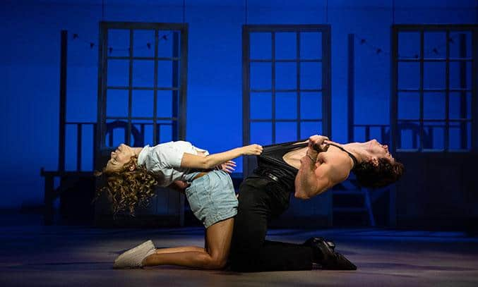 Kira Malou (Baby) and Michael O'Reilly (Johnny) in DIRTY DANCING: THE CLASSIC STORY ON STAGE