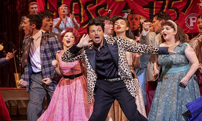 Peter Andre as Vince Fontaine in GREASE.