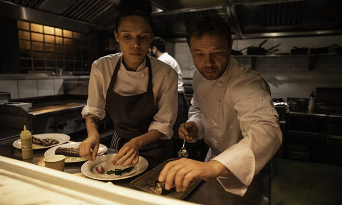 Vinette Robinson and Stephen Graham in Boiling Point
