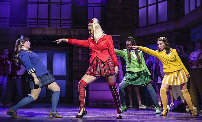 Rebecca Wickes, Maddison Firth, Merryl Ansah & Lizzy Parker in HEATHERS THE MUSICAL.