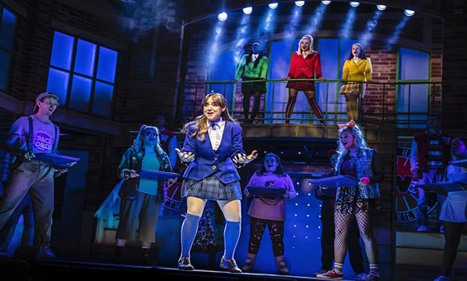 Rebecca Wickes (Veronica) & the cast of HEATHERS THE MUSICAL.